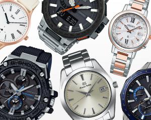 国産有力ブランドの時計を中心に取り揃えた豊富な商品力