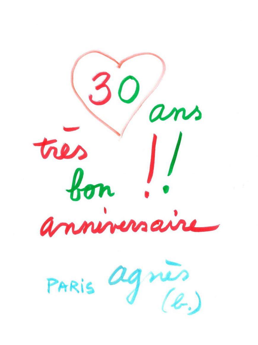 アニエスベー30周年おめでとう( o´ェ`o)