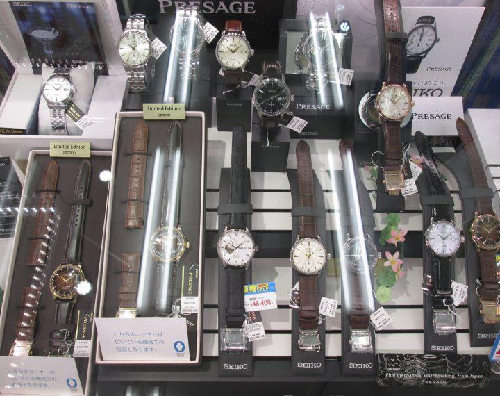 セイコーの機械式時計たくさんあるよ
